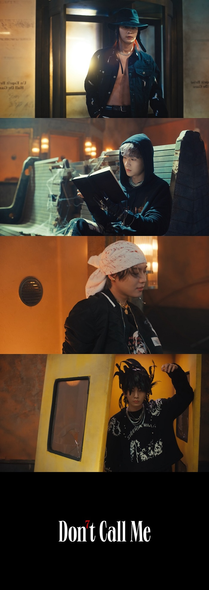 [ภาพแคปเจอร์] มิวสิกวิดีโอเพลงเปิดตัว 'Don't Call Me' จากอัลบั้มเต็มชุดที่ 7 ของ SHINee