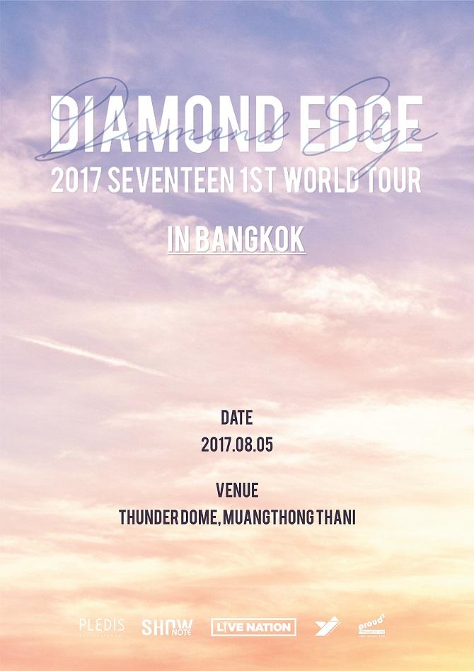 2017 SEVENTEEN 1ST WORLD TOUR DIAMOND EDGE IN BANGKOK (Poster)