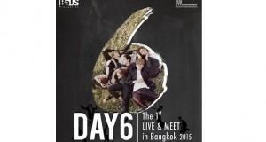 """เผยเสน่ห์ 'DAY6' มิวสิคแบนด์วงแรกจาก JYP  รู้กันให้ลึก ก่อนพบกับความพิเศษ ในงานมีตติ้งครั้งแรก  """"DAY6 The 1st Live & Meet in Bangkok 2015"""""""