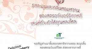 aT Center เชิญเที่ยวงานสตรอว์เบอร์รีเกาหลี ส่งตรงมาให้คนไทยลิ้มลองกว่าสองพันลูก