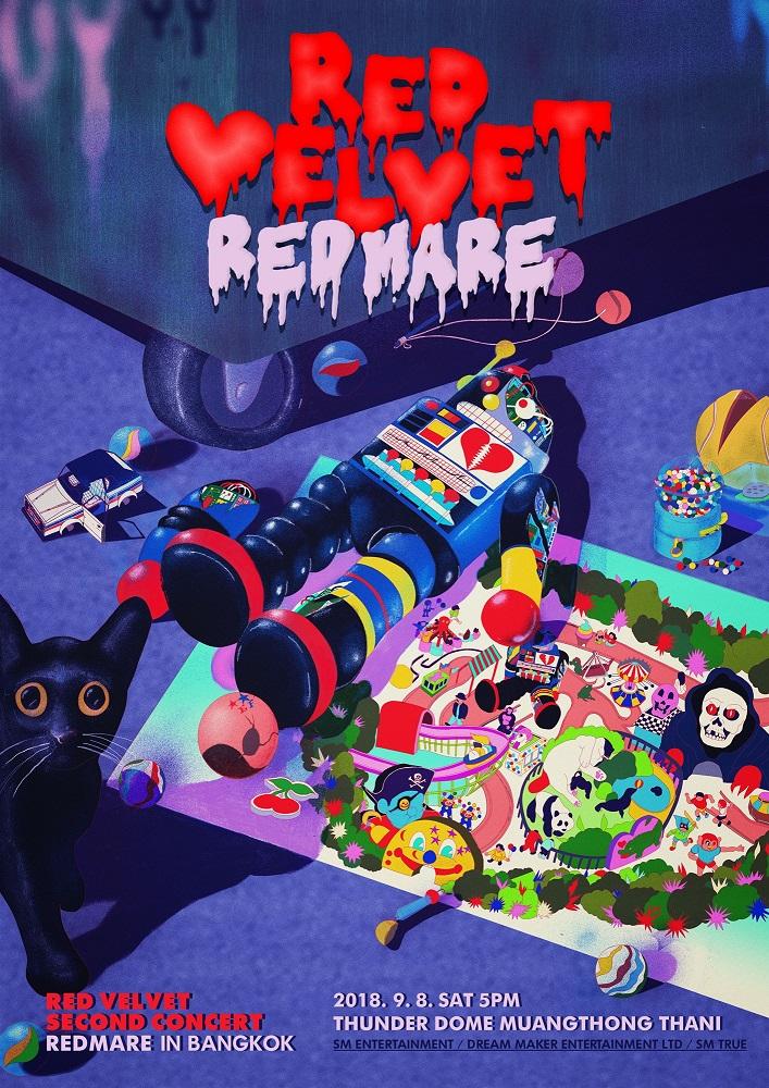 [Official Poster] Red Velvet 2nd Concert [REDMARE] in BANGKOK
