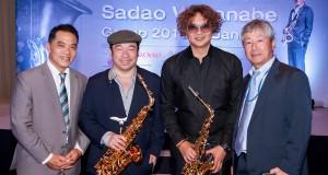 """วงการเพลงแจ๊สคึกคักรับต้นปีกับงานแถลงข่าวคอนเสิร์ต """"SADAO WATANABE Group 2015 in Bangkok"""" ของบรมครูแจ๊สระดับแถวหน้าของโลก ซาดาโอะ บรรยากาศอบอวลไปด้วยเพลงแจ๊สอุ่นเครื่องก่อนเจอตัวจริง"""