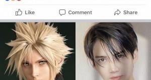 """""""กอล์ฟ พิชญะ"""" เล่นใหญ่ แต่งคอสเพลย์เป็น Cloud พระเอกในเกม Final Fantasy VII Remake"""