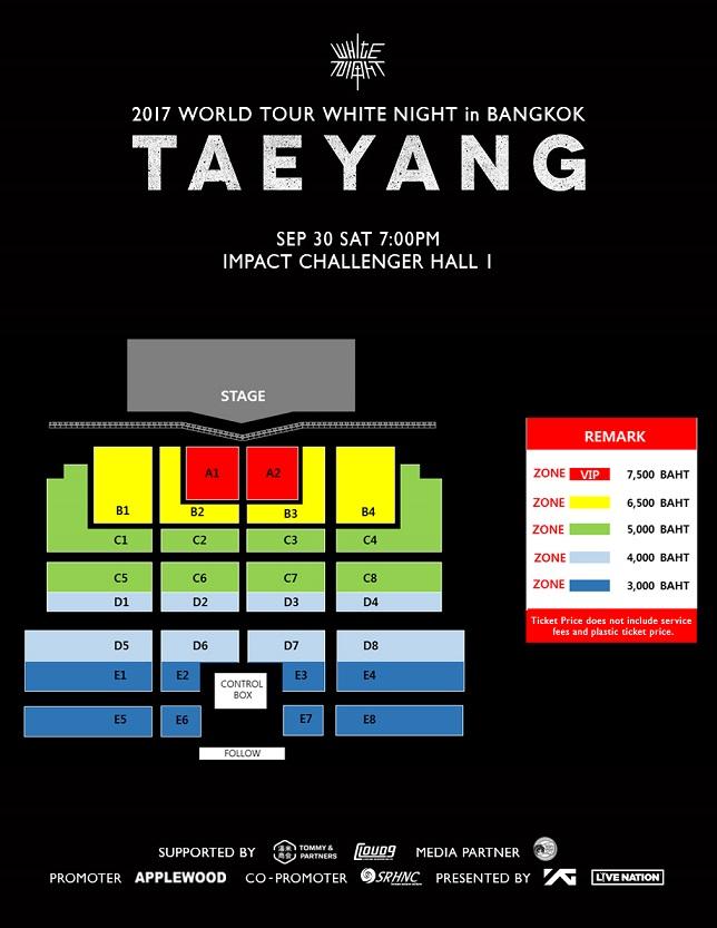 TAEYANG - Seat Plan