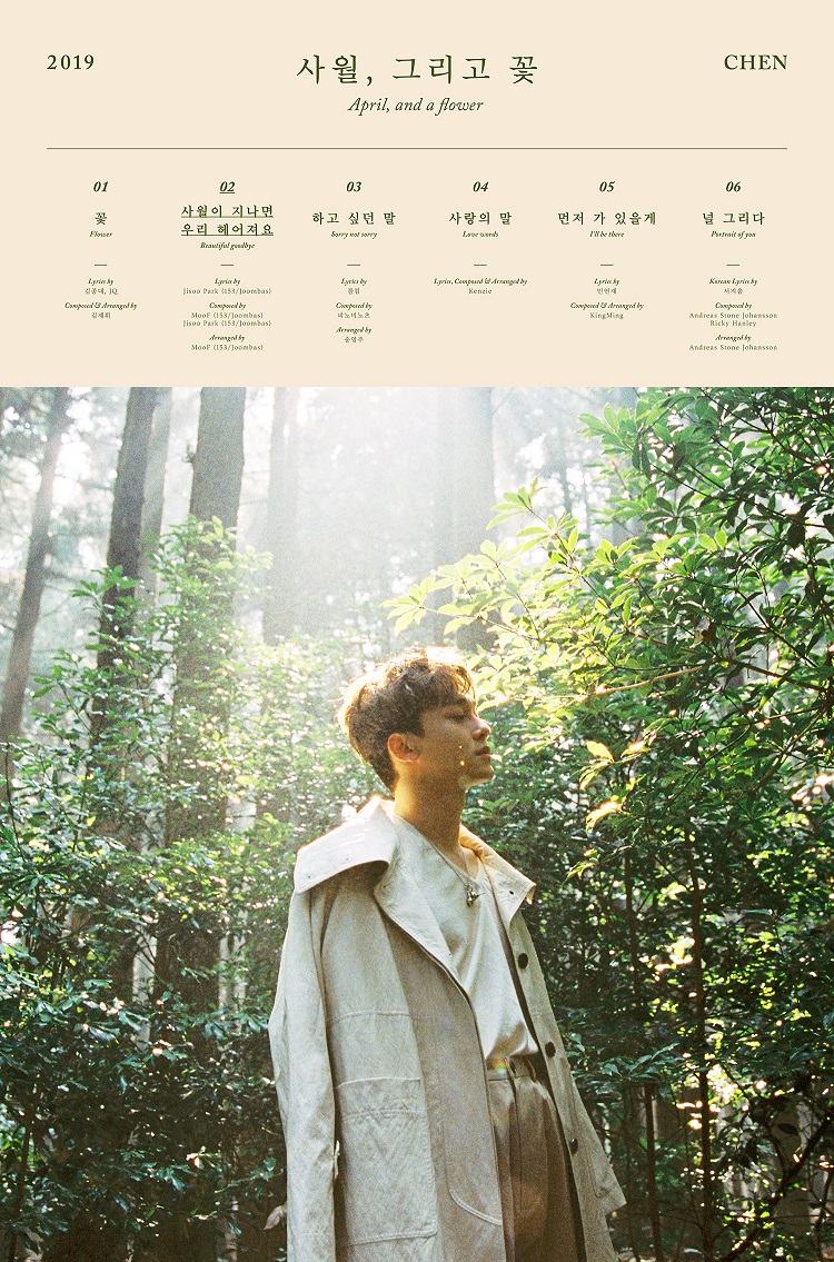 [Teaser Image 1] CHEN's the 1st Mini Album 'April, and a flower'