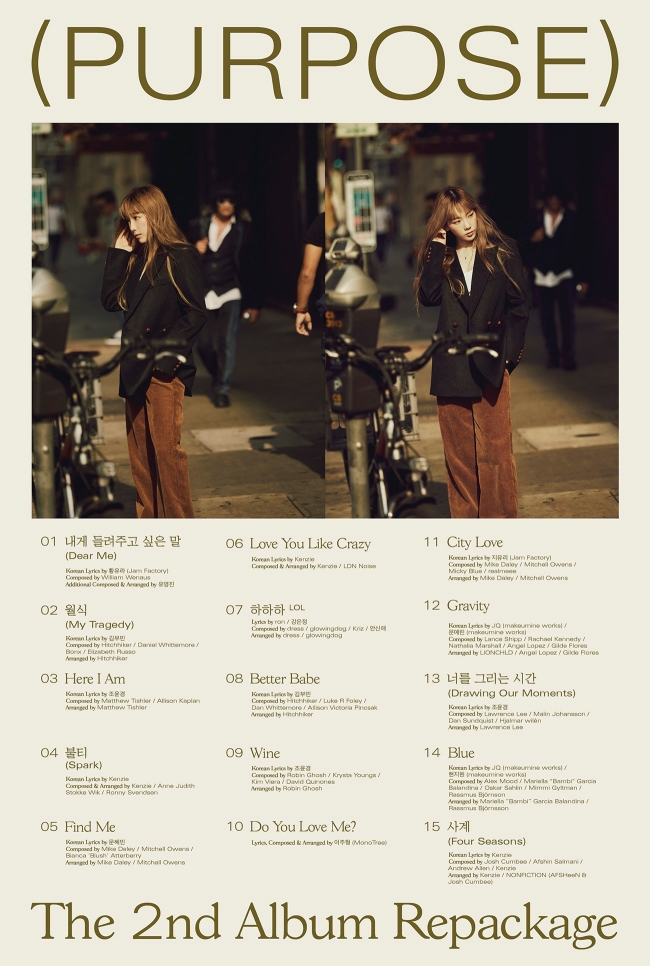 [Tracklist Poster] TAEYEON_The 2nd Album Repackage 'Purpose'