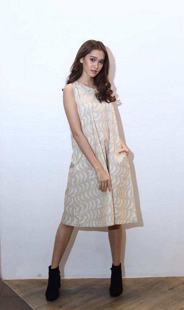 UNIQLOxMarimekko A-Line Dress Rautasanky Pattern