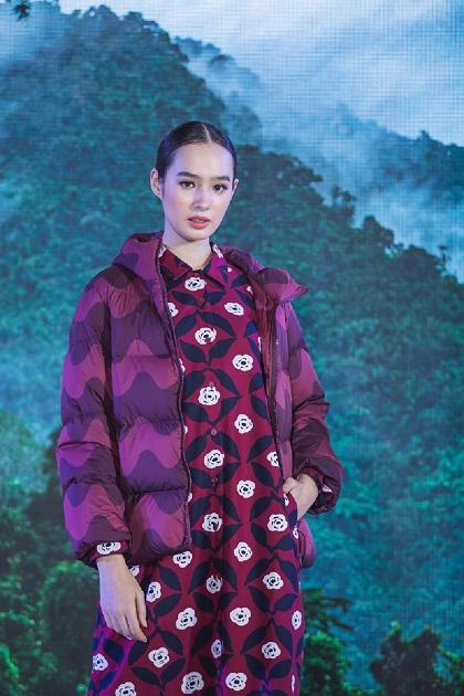 UNIQLOxMarimekko Flannel Dress Long Sleeve Poppy Pattern and Ultra Light Down